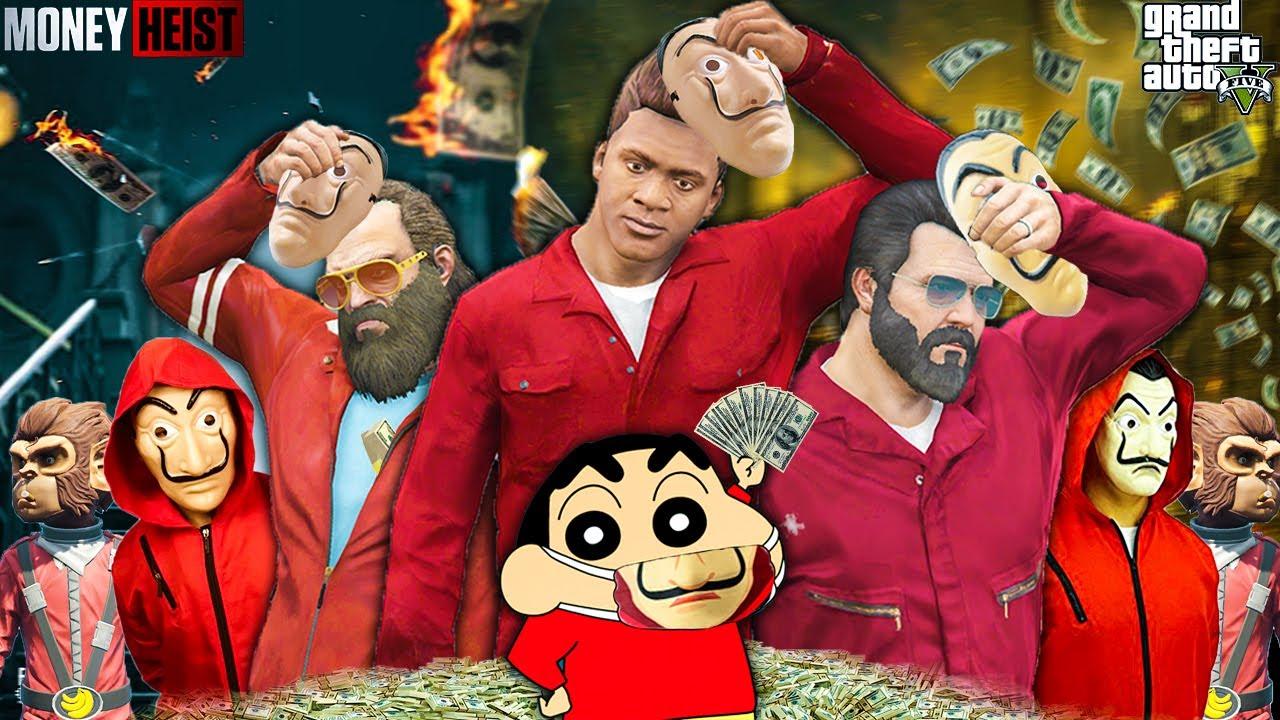 Shinchan & Franklin Joined MONEY HEIST In GTA 5