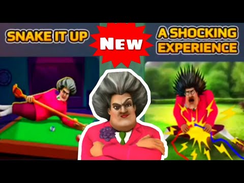 SCARY TEACHER 3D -Snake it Up +A Shocking Experience[Android - ios] Gameplay -Fun In The Sun