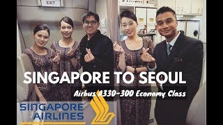 AMAZING FLIGHT SINGAPORE AIRLINES AIRBUS A330-300 SINGAPORE TO SEOUL
