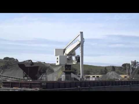Shamrock crane unloading aggregate Petaluma ca
