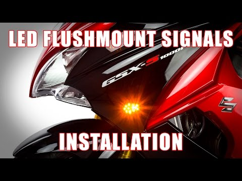 How to install LED Flushmount Signals on 2015+ Suzuki GSX-S1000F by TST Industries