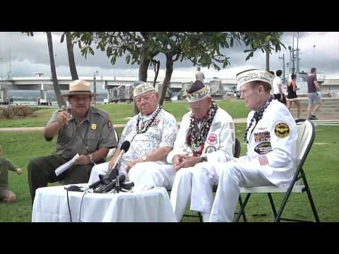 Survivors of the attack on Pearl Harbor 75 years ago