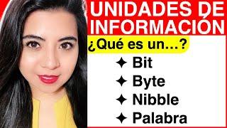 Unidades de Información ¿Qué es un BIT, BYTE, NIBBLE y PALABRA?  ||  UNITS of INFORMATION