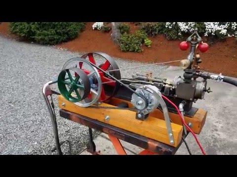 Steam engine and boiler alternator off grid