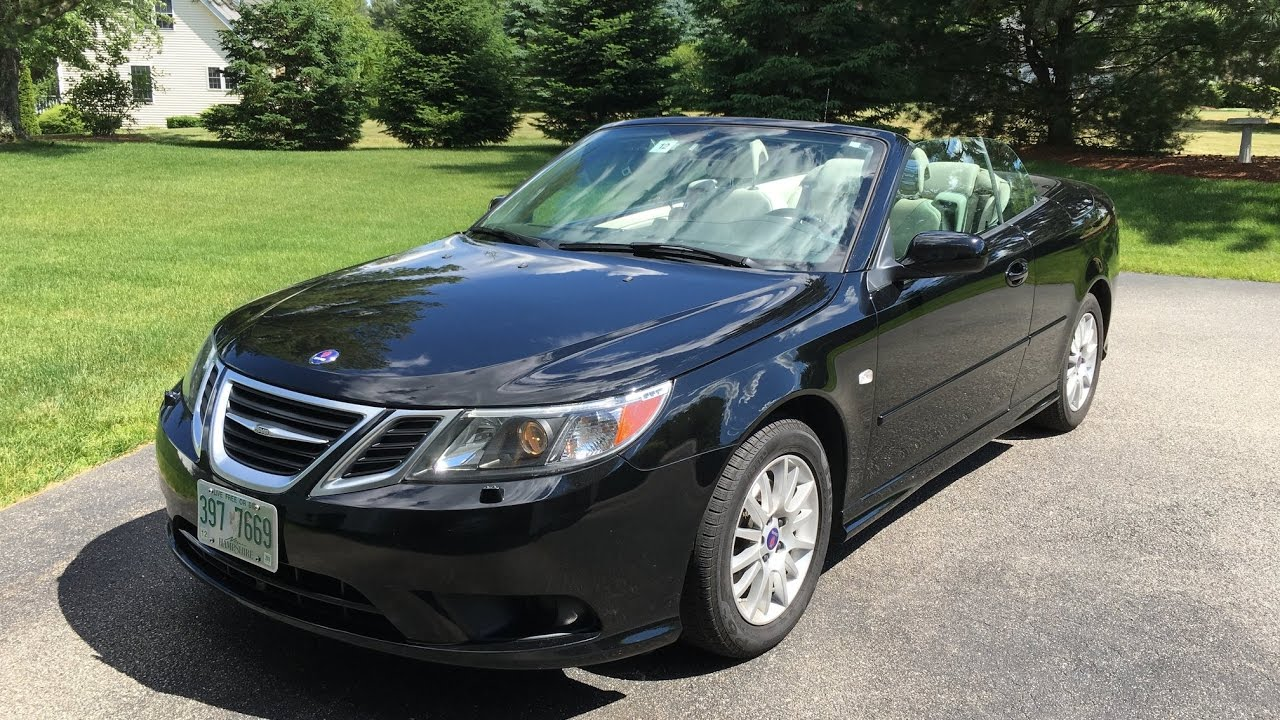 2009 saab 9 3 2 0t convertible walkaround start up