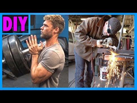 How To Build The LANDMINE PRESS - Homemade DIY Gym Machine