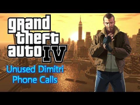GTA IV - Unused Dimitri Phone Calls