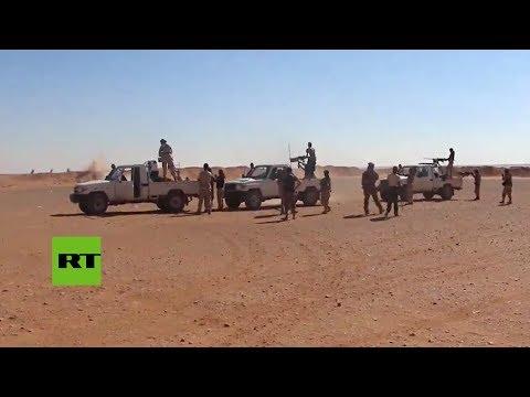 Frontera entre Siria e Irak : Imágenes desde la base de EE.UU. en Tanaf