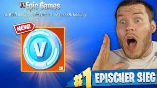 FORTNITE apologizes with 2000 V-Bucks!