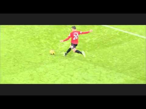 Manchester City - Manchester United      Robin Van Persie free kick [HD]