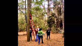 Conf Retreat High Ropes Finish