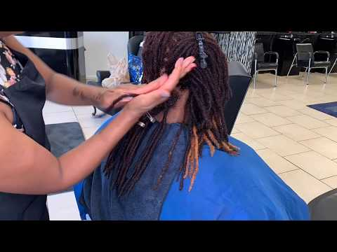 How To Color Locs | Loc Retwist | Loc Palm Rolling Method