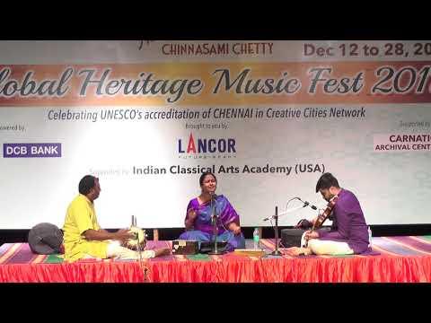 Ananya Ashok L Carnatic Vocal  L Global Heritage Music Fest 2017 L Web Streaming