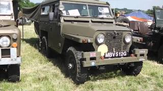 Land Rovers And American Military Vehicles At Hollowell Steam Rally July 2013.