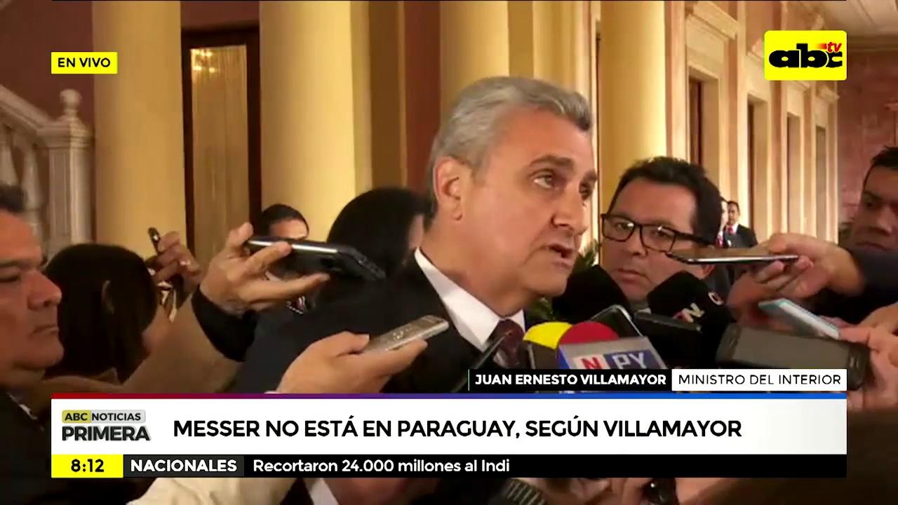 Messer No Esta En Paraguay Segun Villamayor Youtube