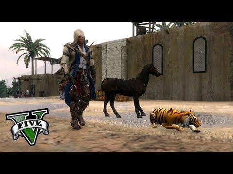 GTA V PC MODS - VIAJE AL PASADO EN GTA 5 !! ASSASSIN'S CREED EN GTA - ElChurches