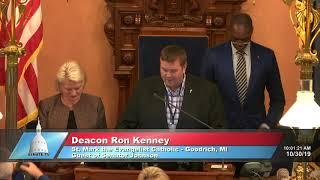 Sen. Johnson welcomes Deacon Kenney to the Michigan Senate