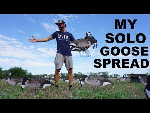 I SET 20 Dozen Decoys By MYSELF! How To Set Goose Decoy Spreads