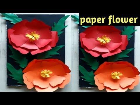DIY paper flower wall hanging/wall decoration ideas/how to make easy paper flower wall hanging.