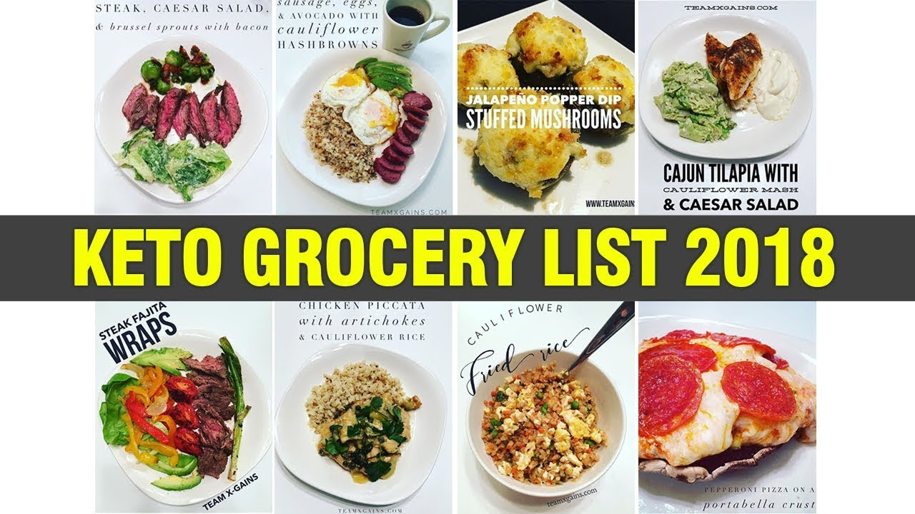 Keto Kickoff Grocery List 2018 Youtube