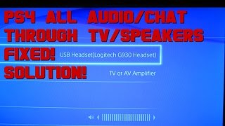 PS4 Tutorial - All Audio/Chat to TV/Speakers with USB Headset or Mic! [Patch 2.50 Feature!]