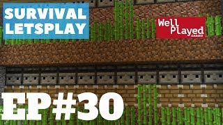 Minecraft Survival Letsplay Ep30 Fully Automatic Stackable Sugar Cane Farm!