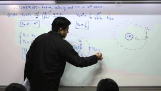 Class 10+2, Chapter 8A, Question 7, Radius, velocity and total energy in nth orbit (English)