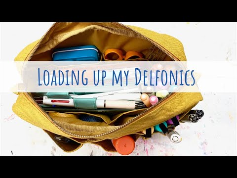 Loading Up My Delfonics Utility Pouch With Journaling Supplies