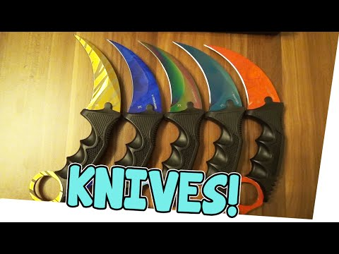 KNIVES UNBOXING! - Fadecase - REAL CS:GO KNIVES   Earliboy