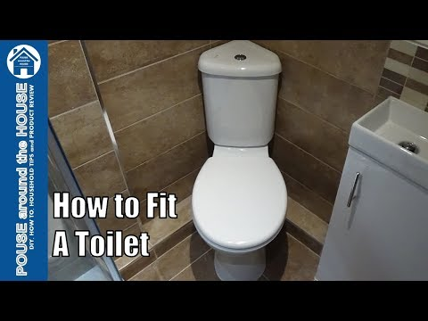 How to fit a toilet. Toilet installation and plumbing for be