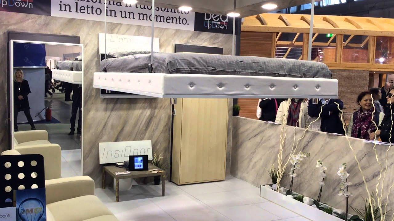 Bed up and down letto a scomparsa nel soffitto artigiano in fiera 2015 youtube - Letto a scomparsa soffitto ...