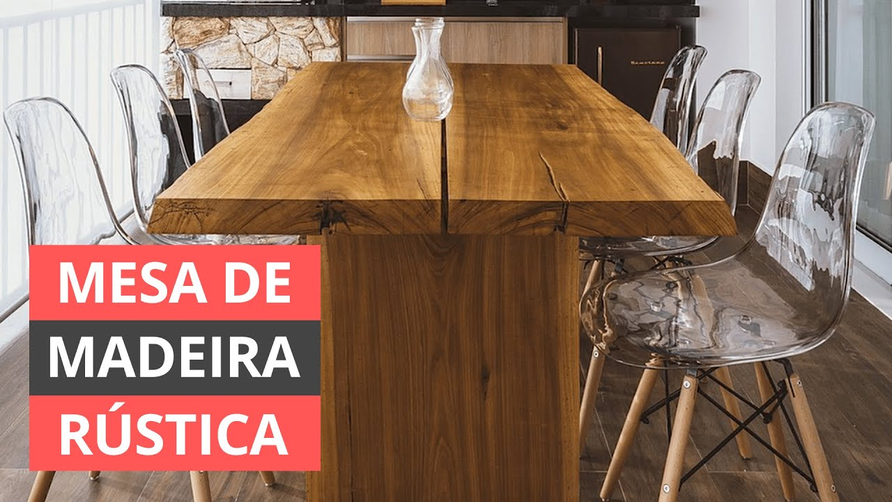 MESA DE MADEIRA RÚSTICA  - COMO FAZER PARA ESCOLHER