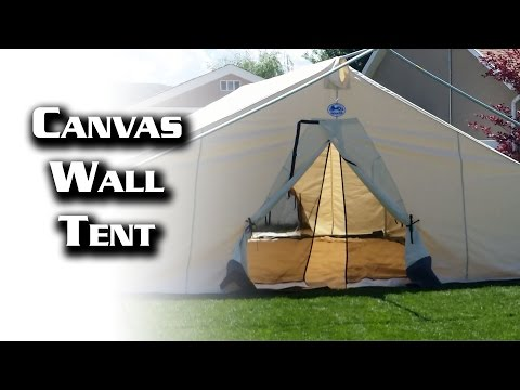 16x20 Canvas Wall Tent from Davis Tent & Awning - YouTube