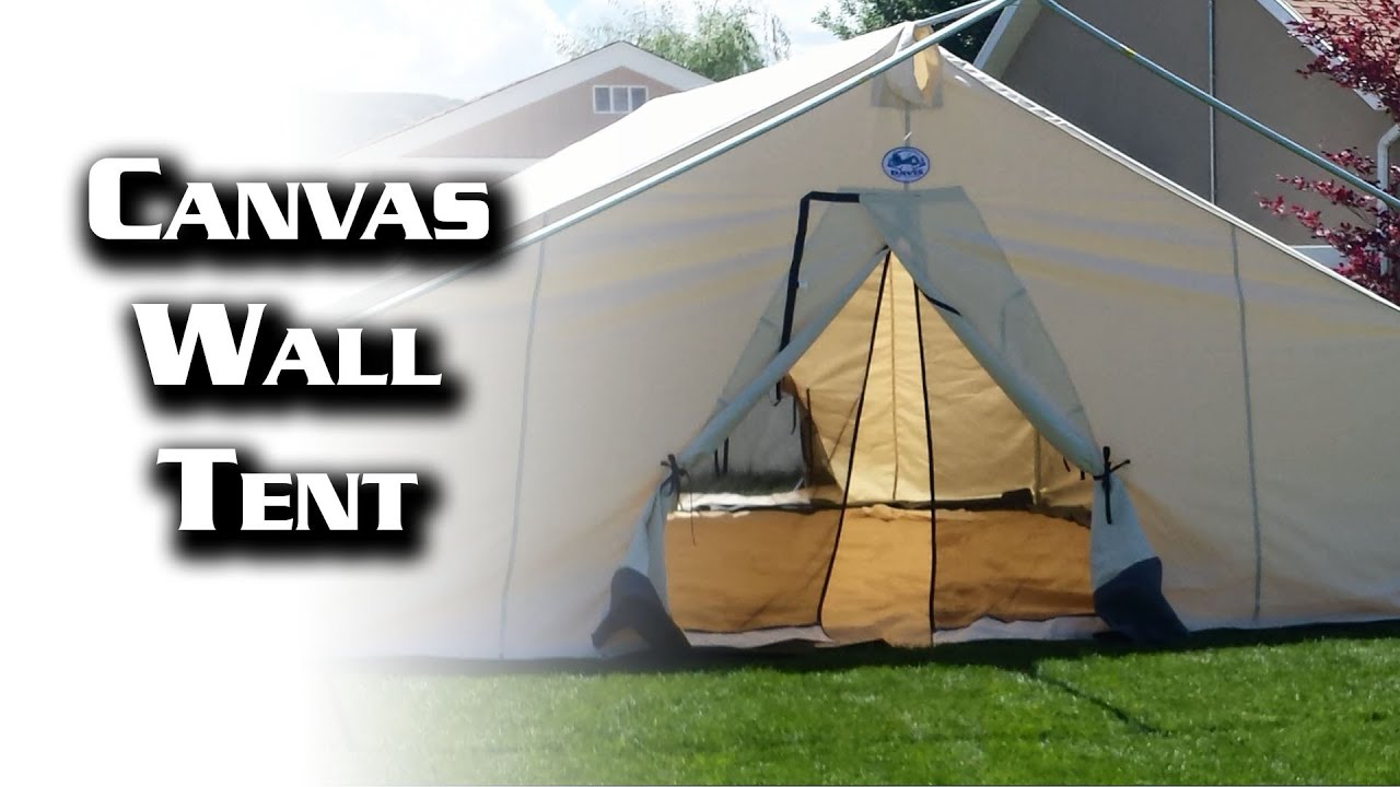 sc 1 st  YouTube & 16x20 Canvas Wall Tent from Davis Tent u0026 Awning - YouTube