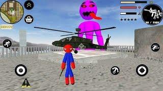 SPIDER STICKMAN ROPE HERO GANGSTAR CRIME - Walkthrough Gameplay Part 1 (Stickman Android Game)