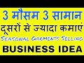 Garments Selling Business With Different Way - Seasonal small business idea ( HINDI )