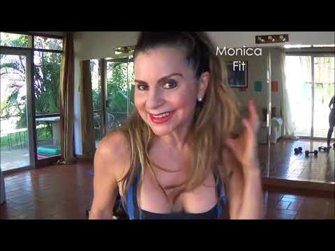 Dumbbell Routine Practice- Weight Training at Home Monica Fit