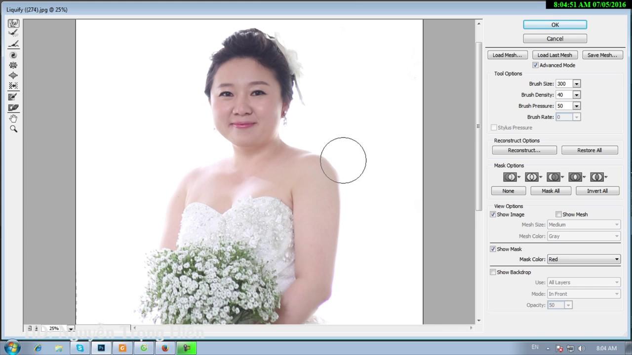 Kỹ thuật Xử lý ảnh cưới thon gọn cô dâu bằng Liquify photoshop cc 2015