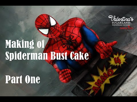 Making of Spiderman Bust Cake Part One