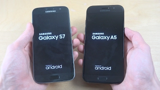 Samsung Galaxy S7 vs. Samsung Galaxy A5 2017 - Which Is Faster?!