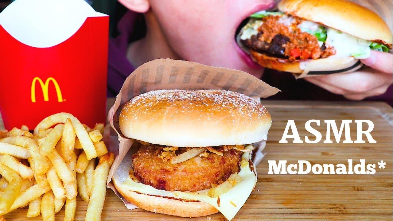 Asmr Eating Sounds Mcdonalds Fries Burgers Chewy Eating Sound Mar Asmr