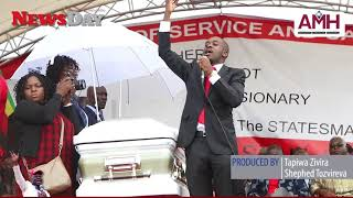 Watch what really happened at the Tsvangirai funeral