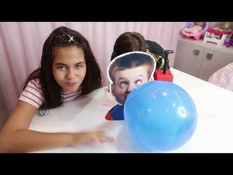 BELA BAGUNÇA X MAGU - Brincando no Jogo Explode Balão. Quem vai ganhar Menina ou Menino?
