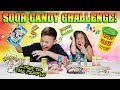 EXTREME SOUR CANDY CHALLENGE!!! Warheads Toxic Waste Sour Patch Kids Airheads & More!