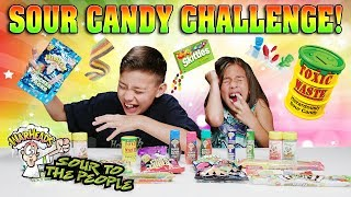 EXTREME SOUR CANDY CHALLENGE!!! Warheads, Toxic Waste, Sour Patch Kids, Airheads & More! thumbnail