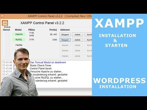 XAMPP installieren & einrichten  - WordPress installation auf XAMPP   tutorial deutsch - 2017