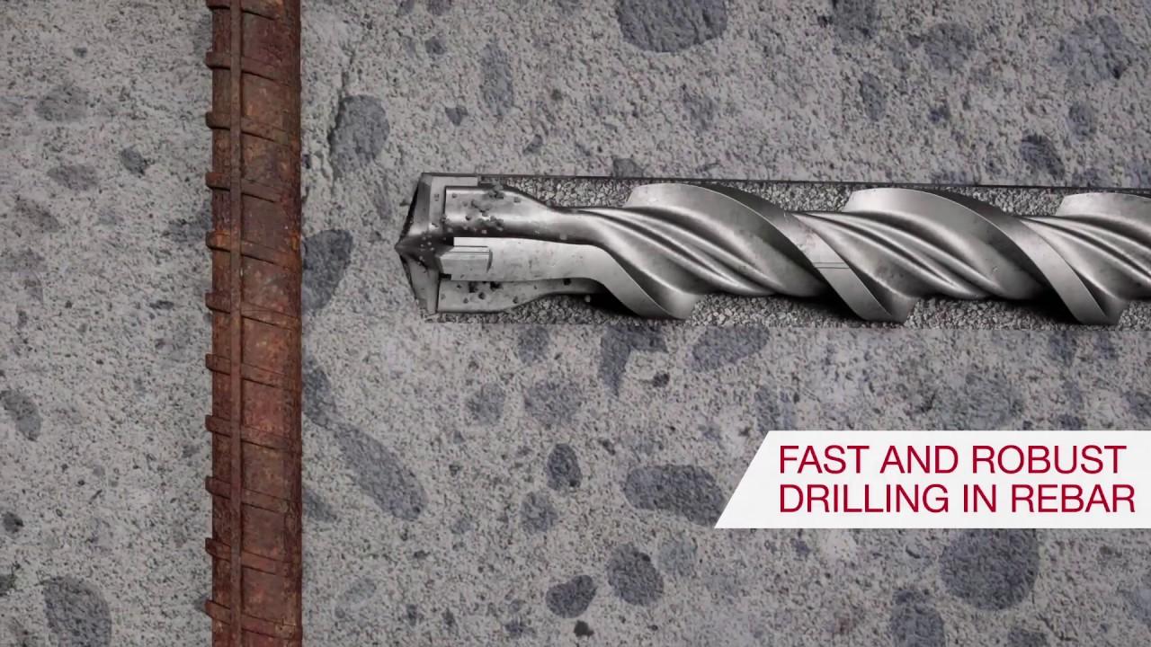 5 pcs construction drill concrete impact drill bit set drill wall drill bit 10MM Impact drill bit