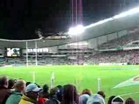 Sydney Waratahs mascot coming from above part 1