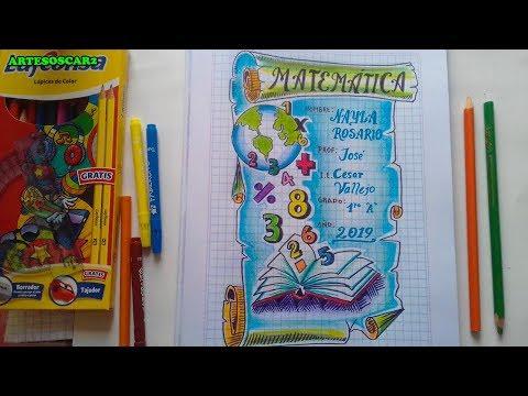 caratula-para-cuaderno-de-matemÁtica-fÁcil-paso-a-paso-you-tube
