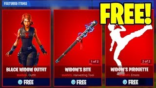 How to get the BLACK WIDOW OUTFIT For FREE!!!